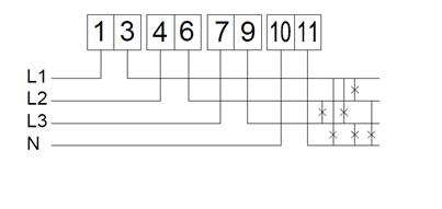 Šema ožičenja trofaznog električnog brojila
