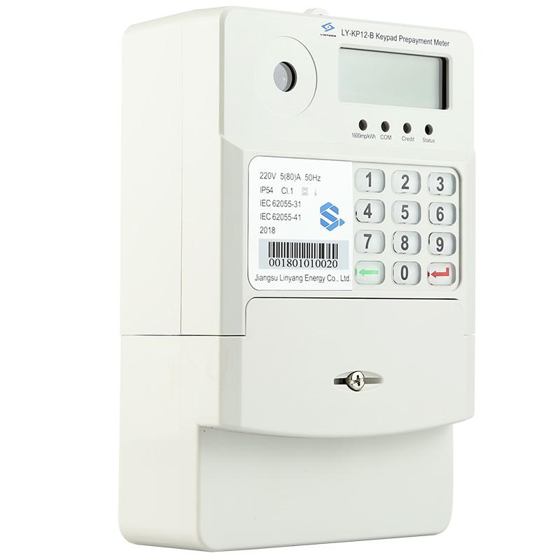 Top Quality electricity meter - BS Keypad Single Phase Prepaid Meter LY-KP12B – linyang